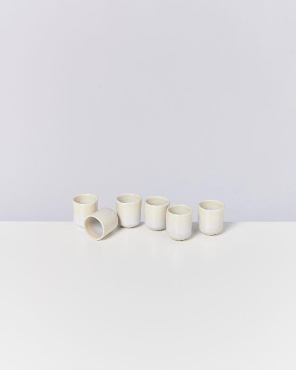 Alcachofra 6er Set Espressobecher sand