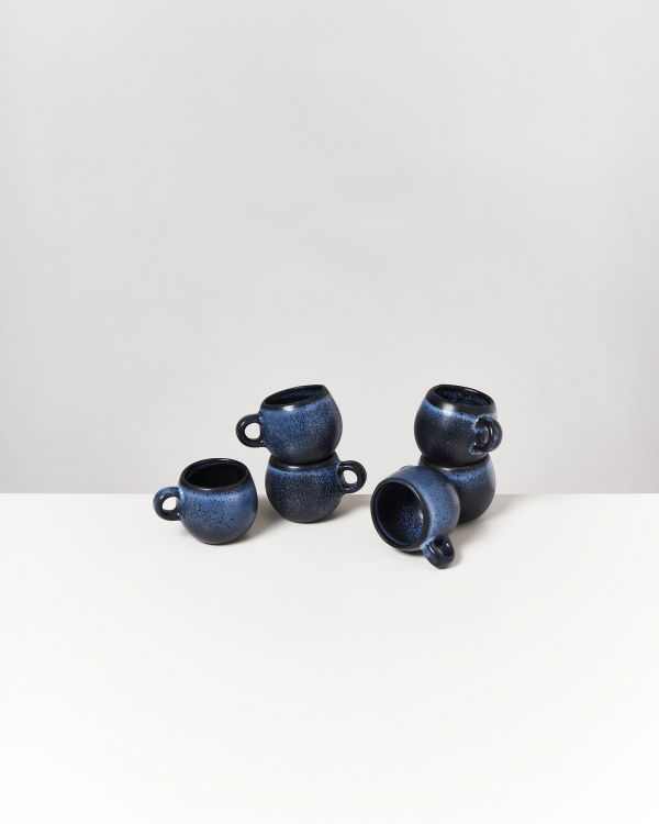 TURMALINA - Set of 6 Espressomugs black