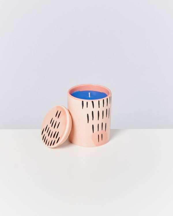 VELA - Candle coral striped