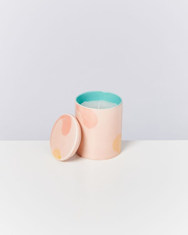 VELA - Candle pink yellow