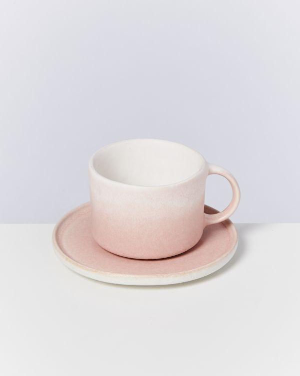 Zavial rose Tasse mit Untertasse