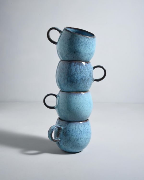 AREIA Set of 4 - Cups teal
