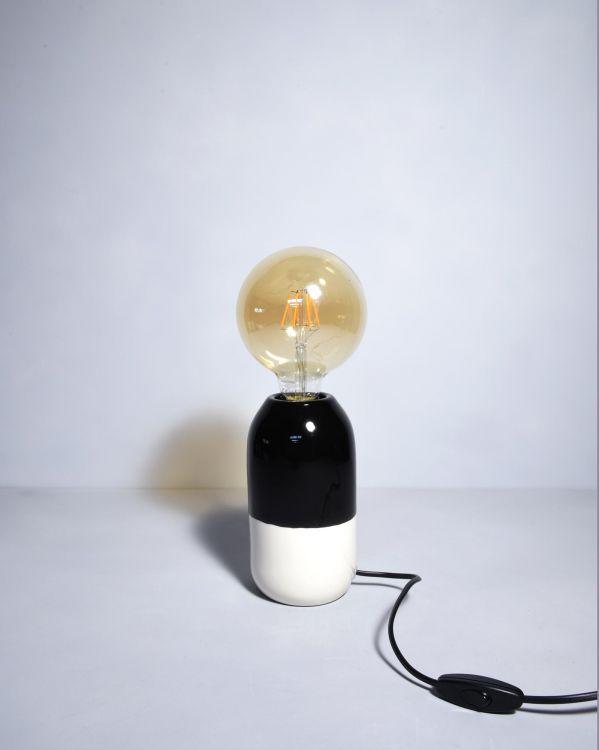 Farol Lampe schwarz weiss