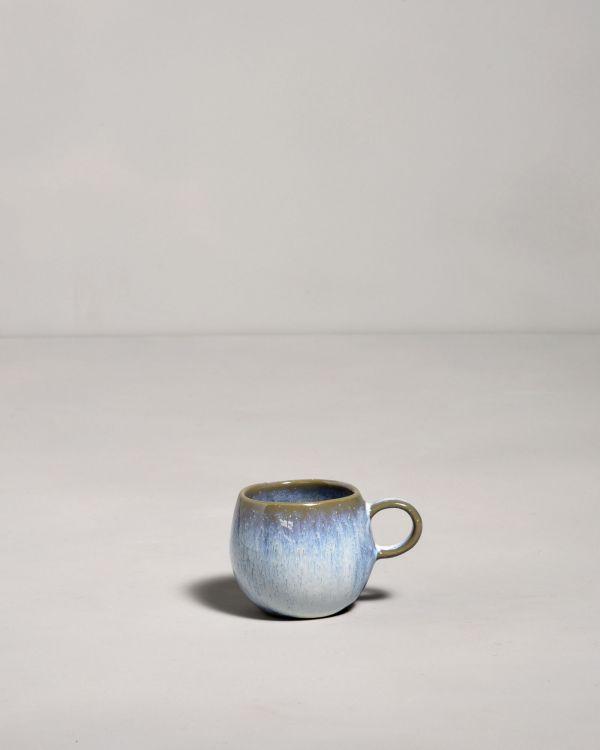 Frio Espresso Tasse blau weiss