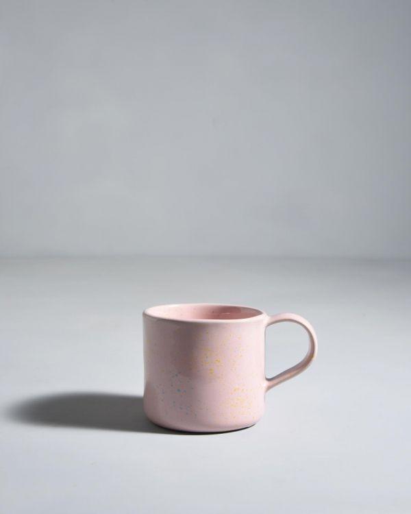 Nódoa Tasse rosa gesprenckelt