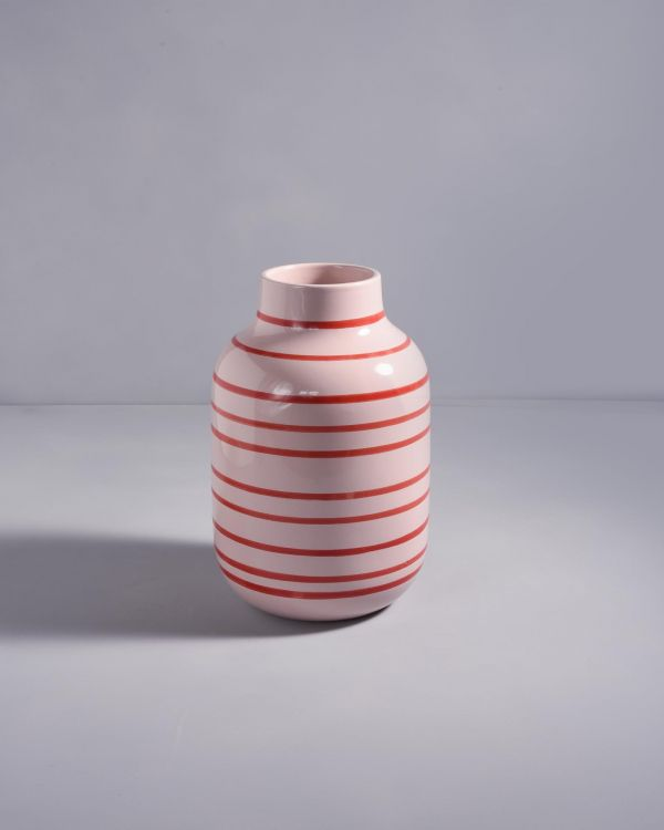 NUNO - rose red striped