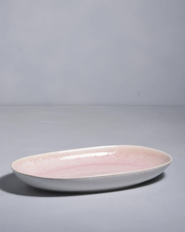 ALACHOFRA - Serving Platter L peach