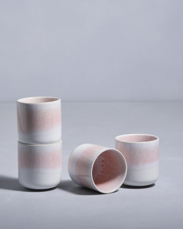 ALACHOFRA - Set of 4 Mugs small peach
