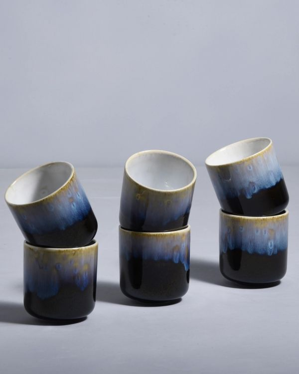 ALACHOFRA - Set of 6 Mugs small black