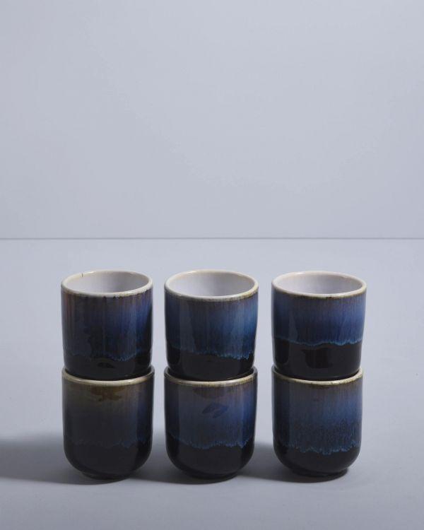 ALACHOFRA - Set of 6 Mugs small black