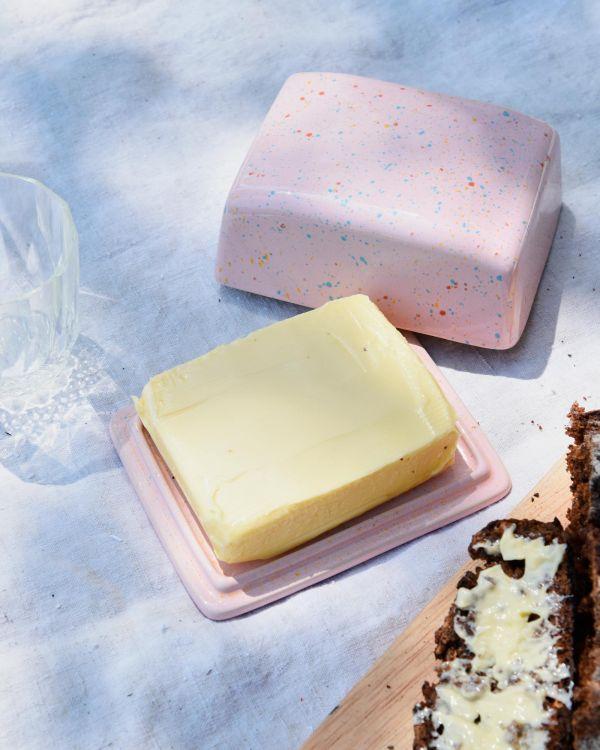 Alojamento Butterdose rosa gesprenckelt