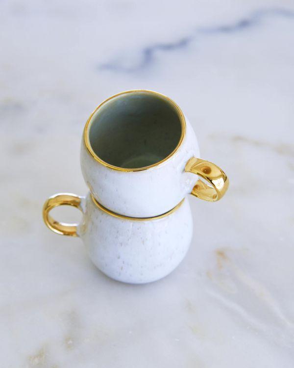 Areia Espressotasse mint mit Gold