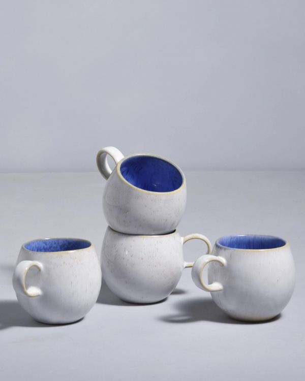 Areia Set of 4- Cups small royal blue