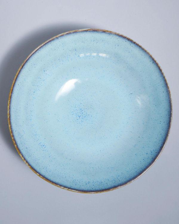 AREIA - Servingbowl big flat teal
