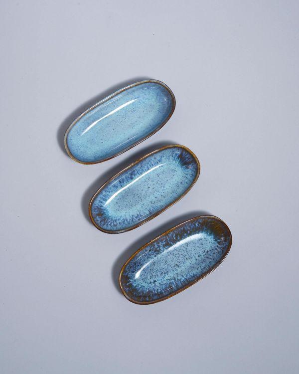 AREIA - Serving Platter S teal