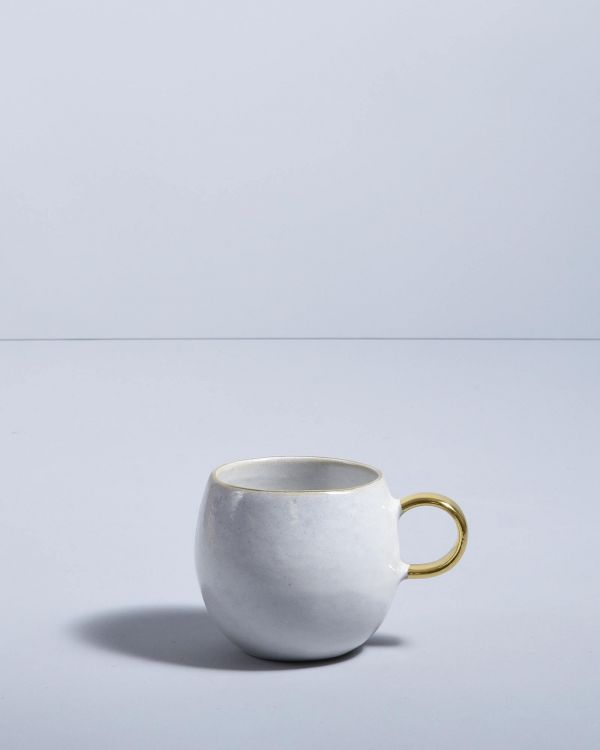 AREIA - Cup big with golden rim mint