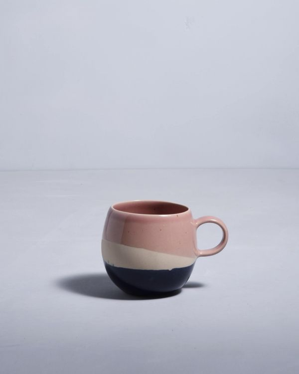 Bica Tasse gross pink navy cream