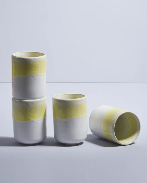 COPA ALTO - Set of 4 Mugs big yellow