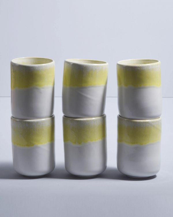 COPA ALTO - Set of 6 Mugs big yellow