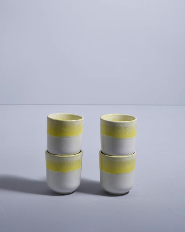 COPA ALTO - Set of 4 Cups small yellow