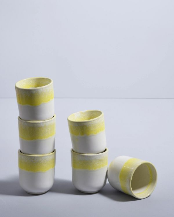 COPA ALTO - Set of 6 Mugs small yellow