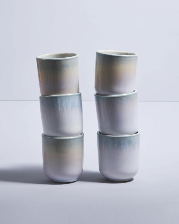 COPA ALTO - Set of 6 Mugs small jade
