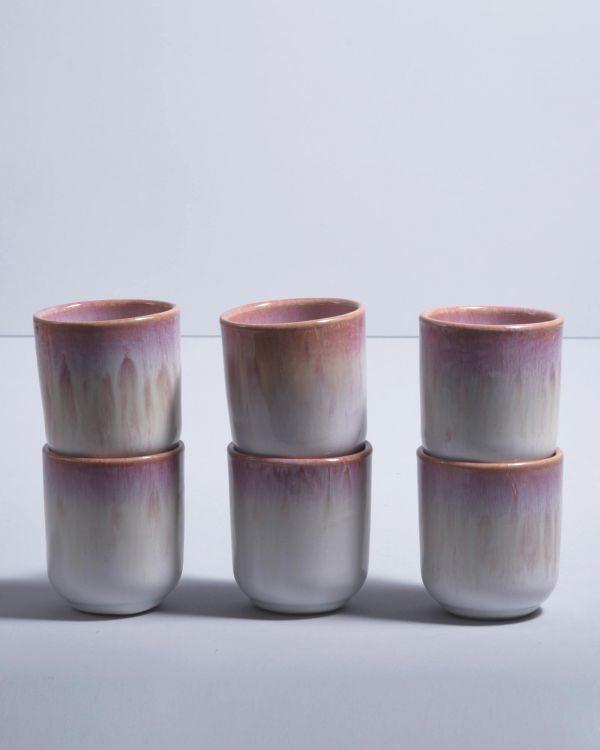 COPA ALTO - Set of 6 Mugs small rose white