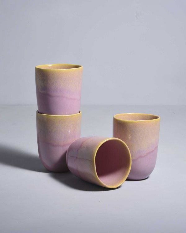 Copa Alto Set of 4 Mugs yellow rosé