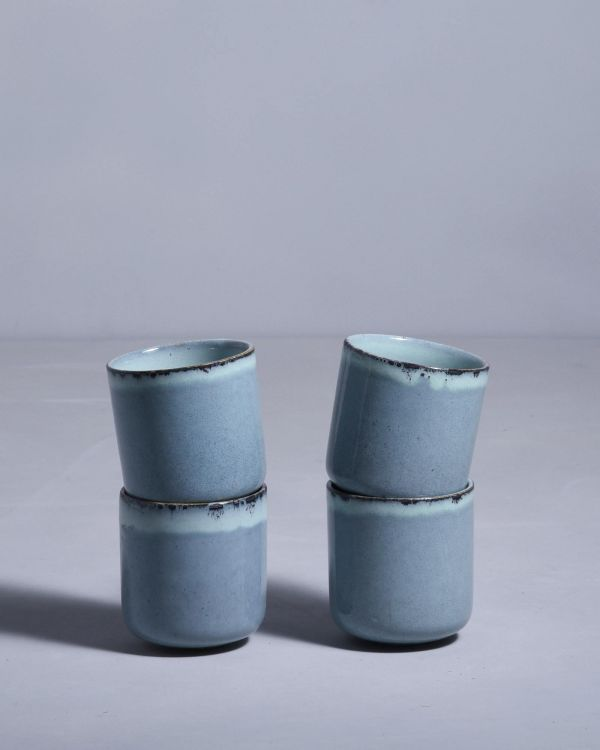 LUA - Set of 4 Cups small blue