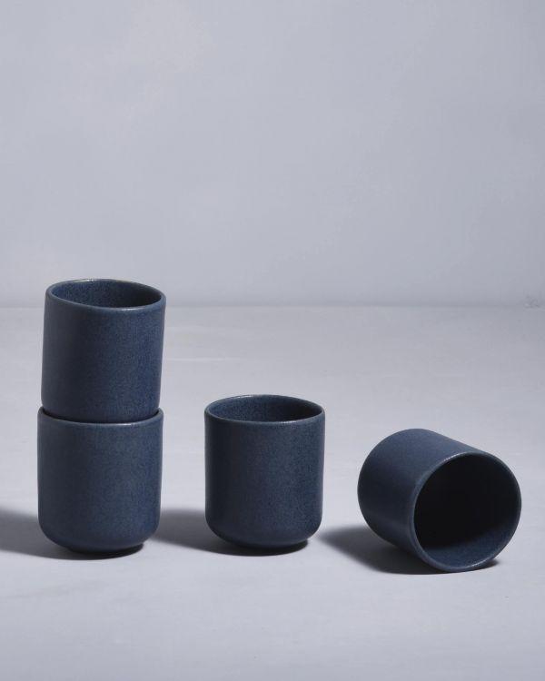Macio 4er Set Becher klein blau