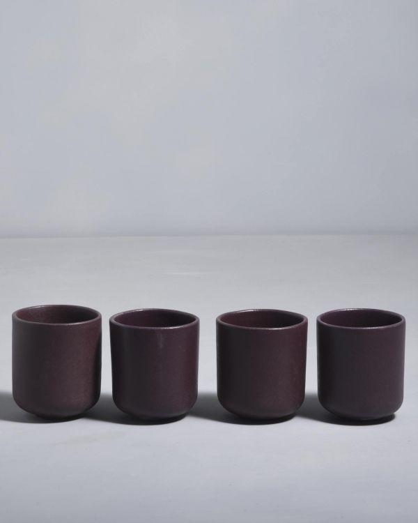 MACIO - Set of 4 Cups small bordeaux