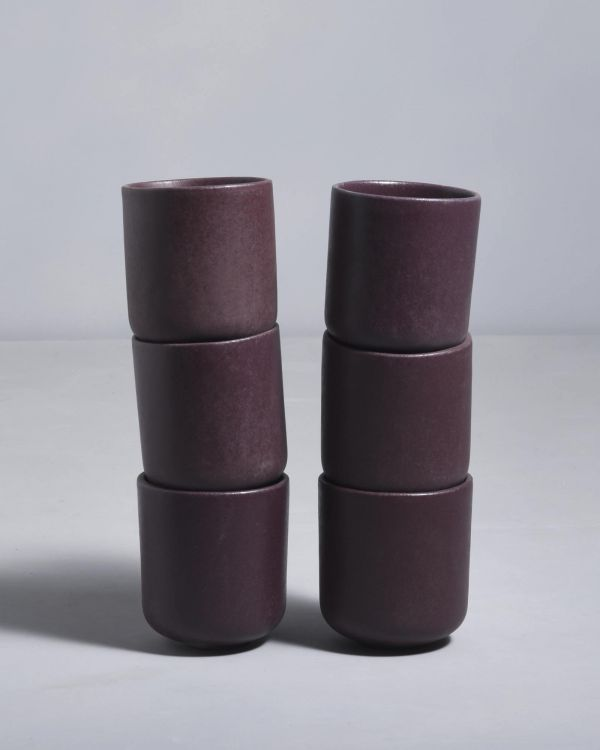 Macio 6er Set Becher klein bordeaux