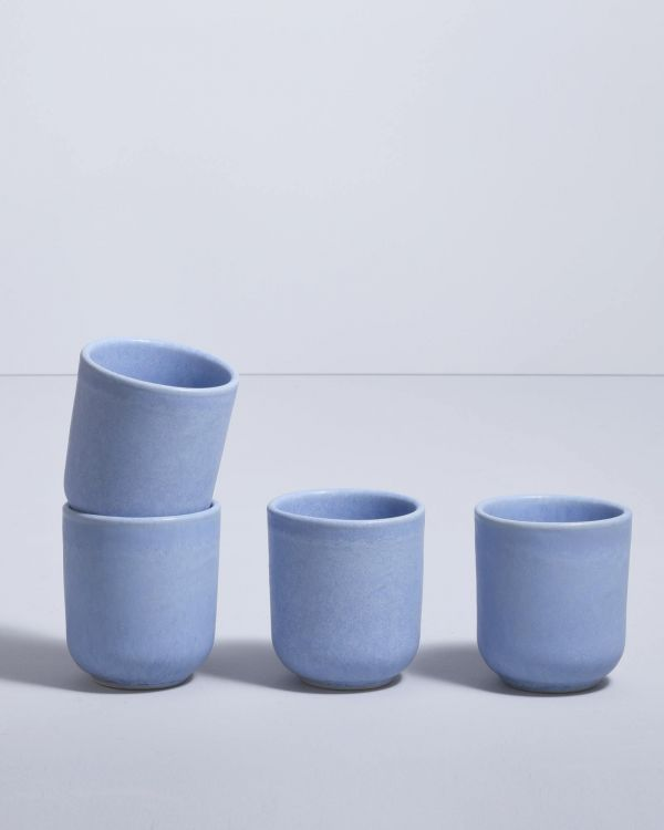 MACIO - Set of 4 Cups small lightblue