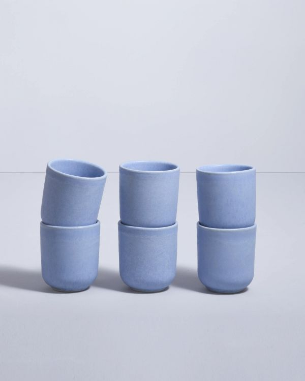 MACIO - Set of 6 Mugs small lightblue
