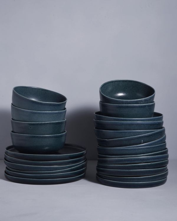 MACIO petrol - Set of 24 pieces