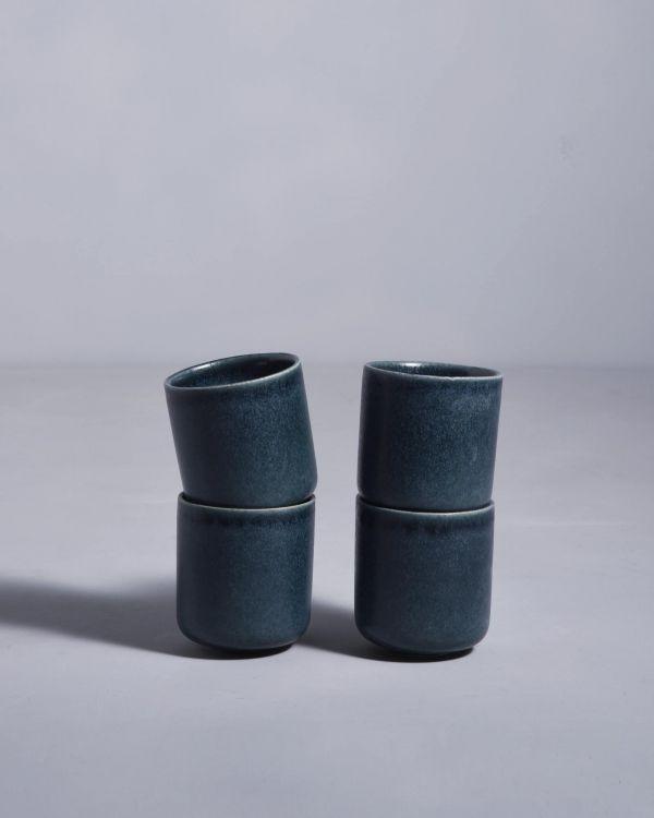 MACIO - Set of 4 Mugs small petrol