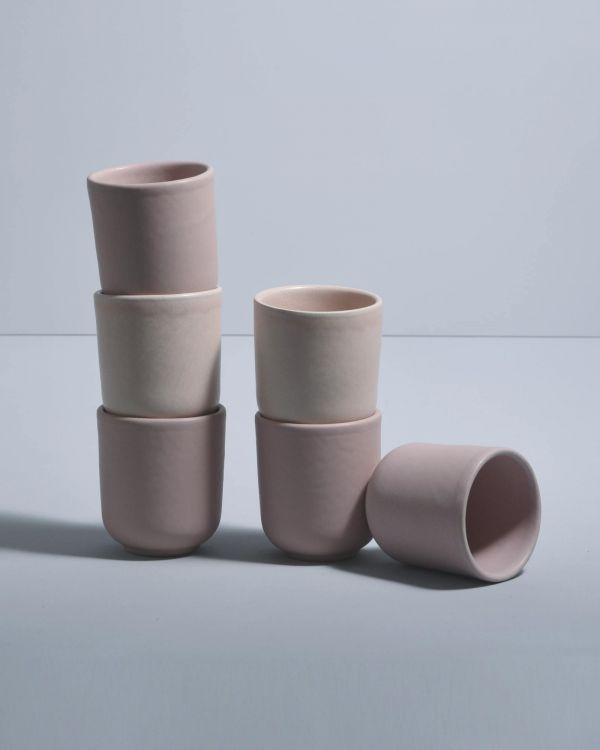 MACIO - Set of 6 Mugs small rose