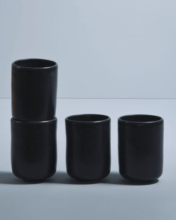 Macio 4er Set Becher groß schwarz
