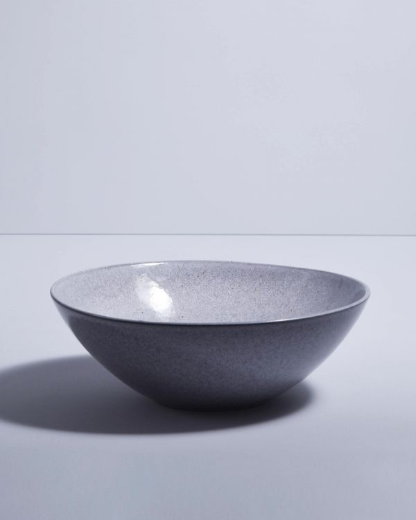 MAE - Servingbowl flat small grey