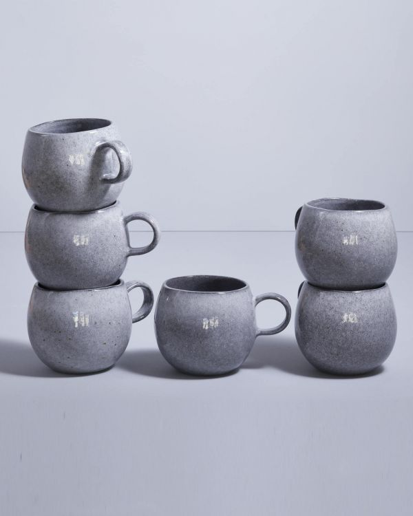 Mae - Set of 6 Cups big grey