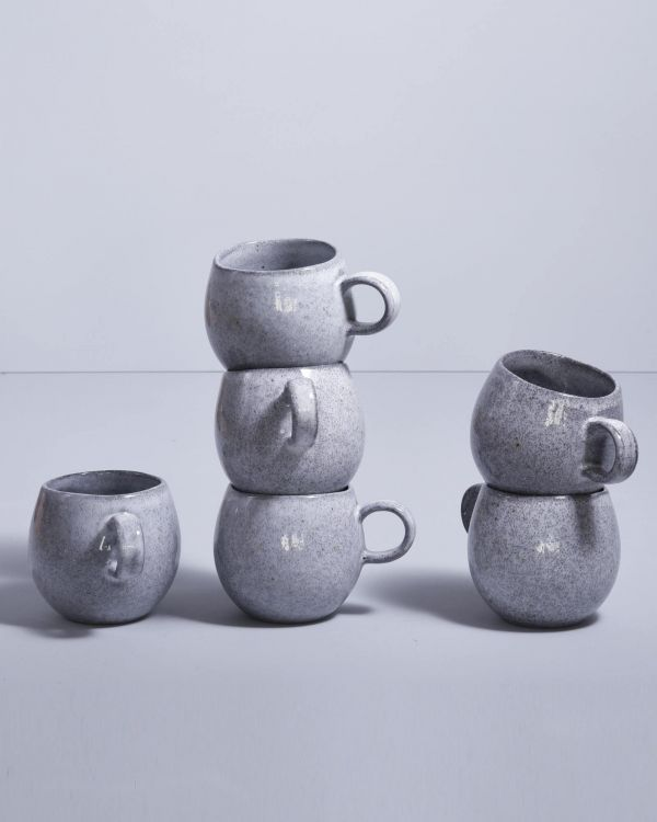 MAE - Set of 6 Cups small grey