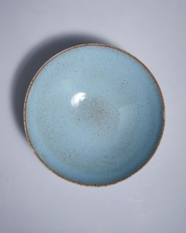 MAE - Servingbowl flat small turquoise