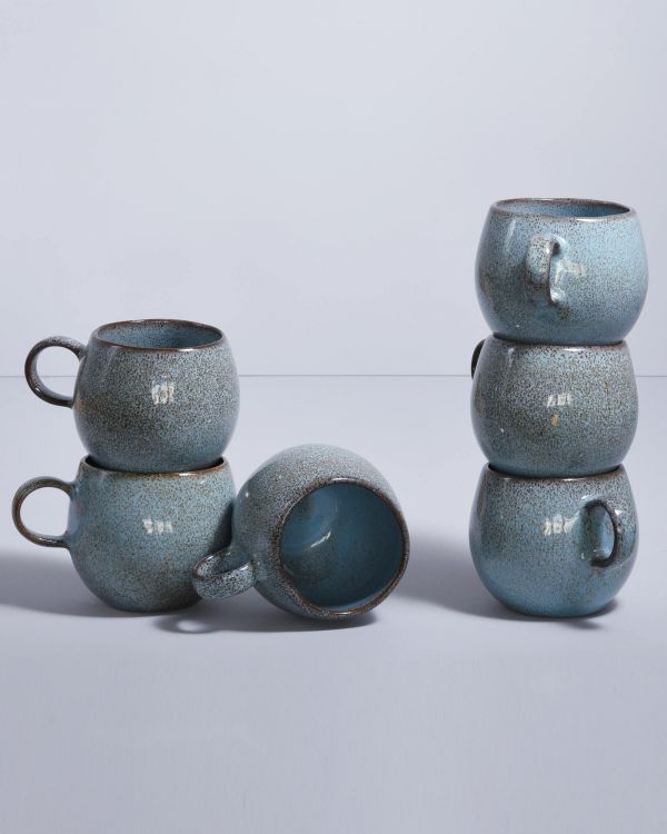 Mae - Set of 6 Cups big turquois