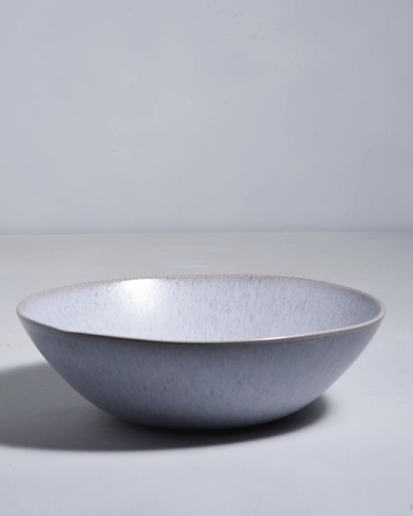 PORTO - Servingbowl big flat grey
