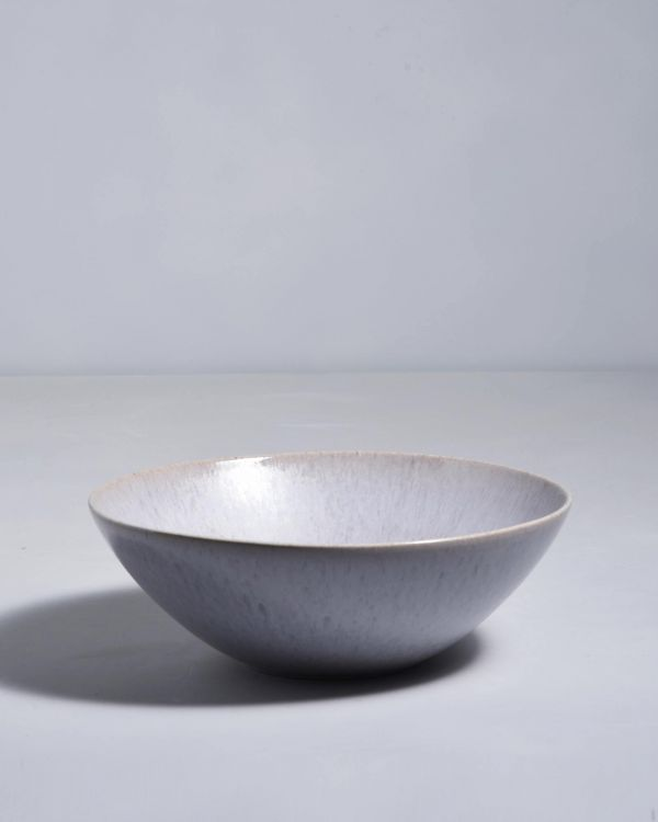 PORTO - Servingbowl flat small grey