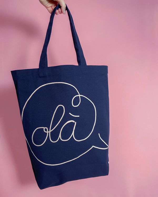 Beach Bag navy white