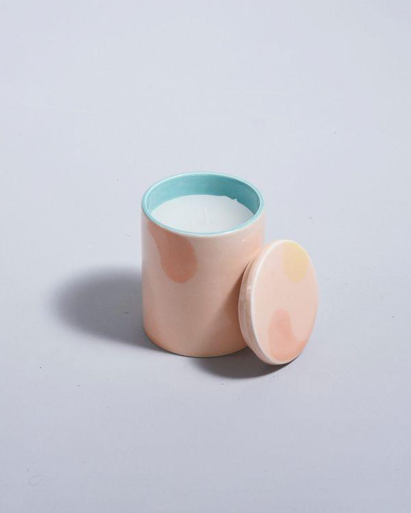 VELA - Candle pink yellow