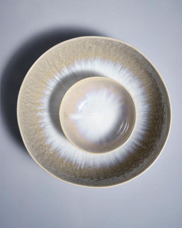 Alachofra Servierschale flach ivory