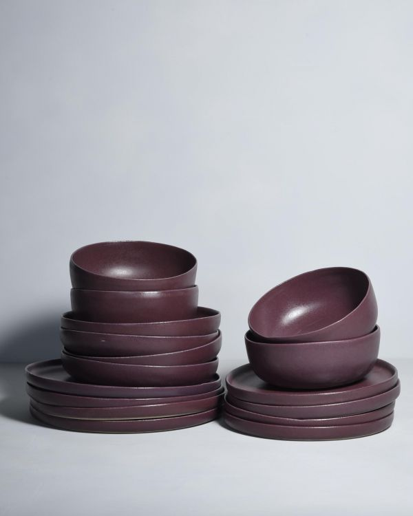 MACIO burgundy - Set of 16 pieces