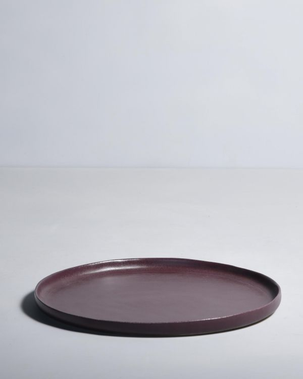 MACIO - Plate large burgundy